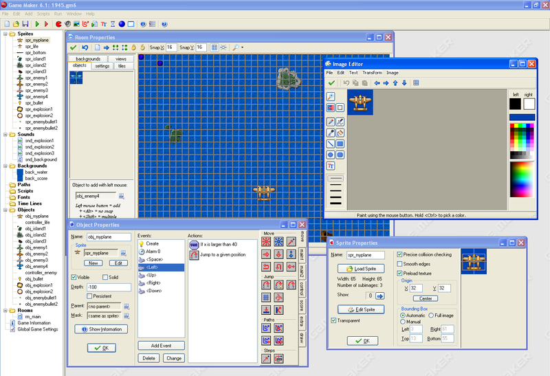 Game Maker 6.1 arabirimi